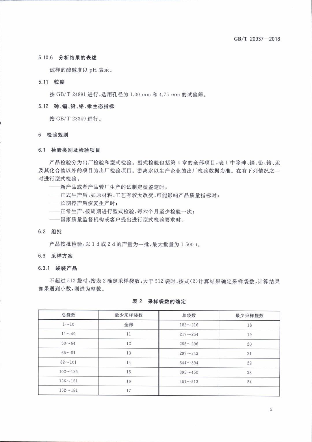 GBT20937-2018农业用硫酸钾镁