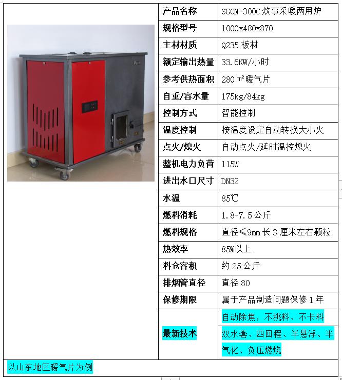 SGCN--28OC炊事采暖两用炉